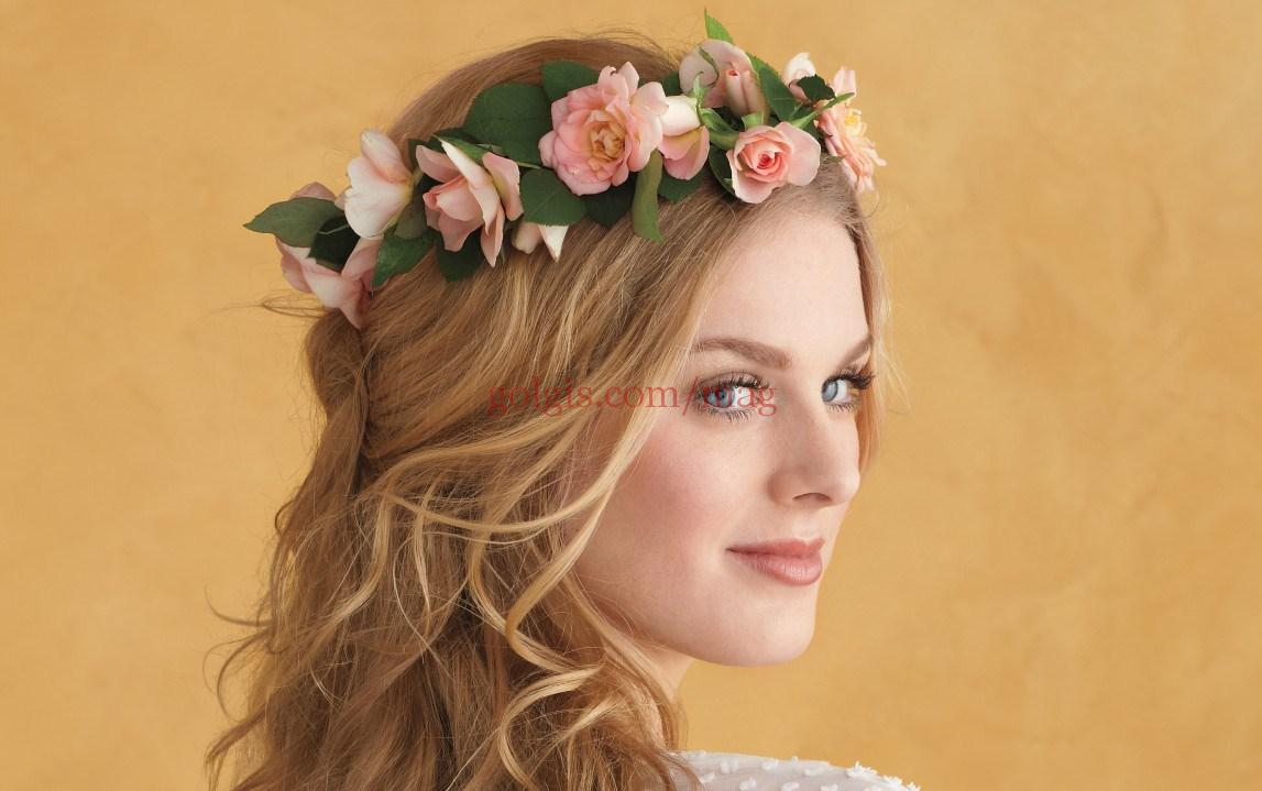 مدل های تزیین مو با گل