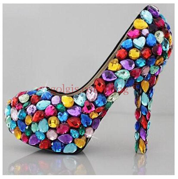 جدیدترین مدل کفش مجلسی نگین دار